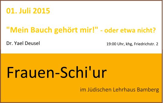 Frauen-Schiur am 01. Juli 2015