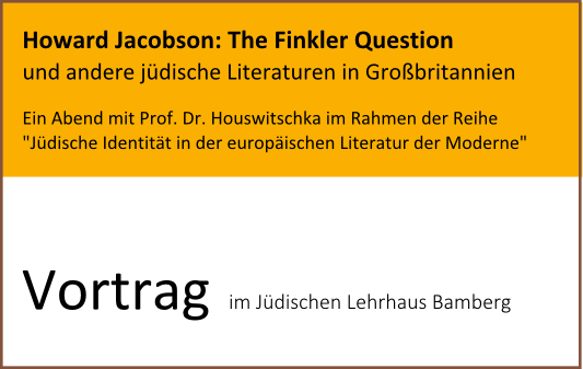 "Howard Jacobson: ""The Finkler Question"""