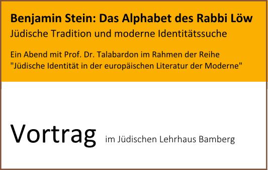 """Benjamin Stein: """"Das Alphabet des Rabbi Löw"""""""