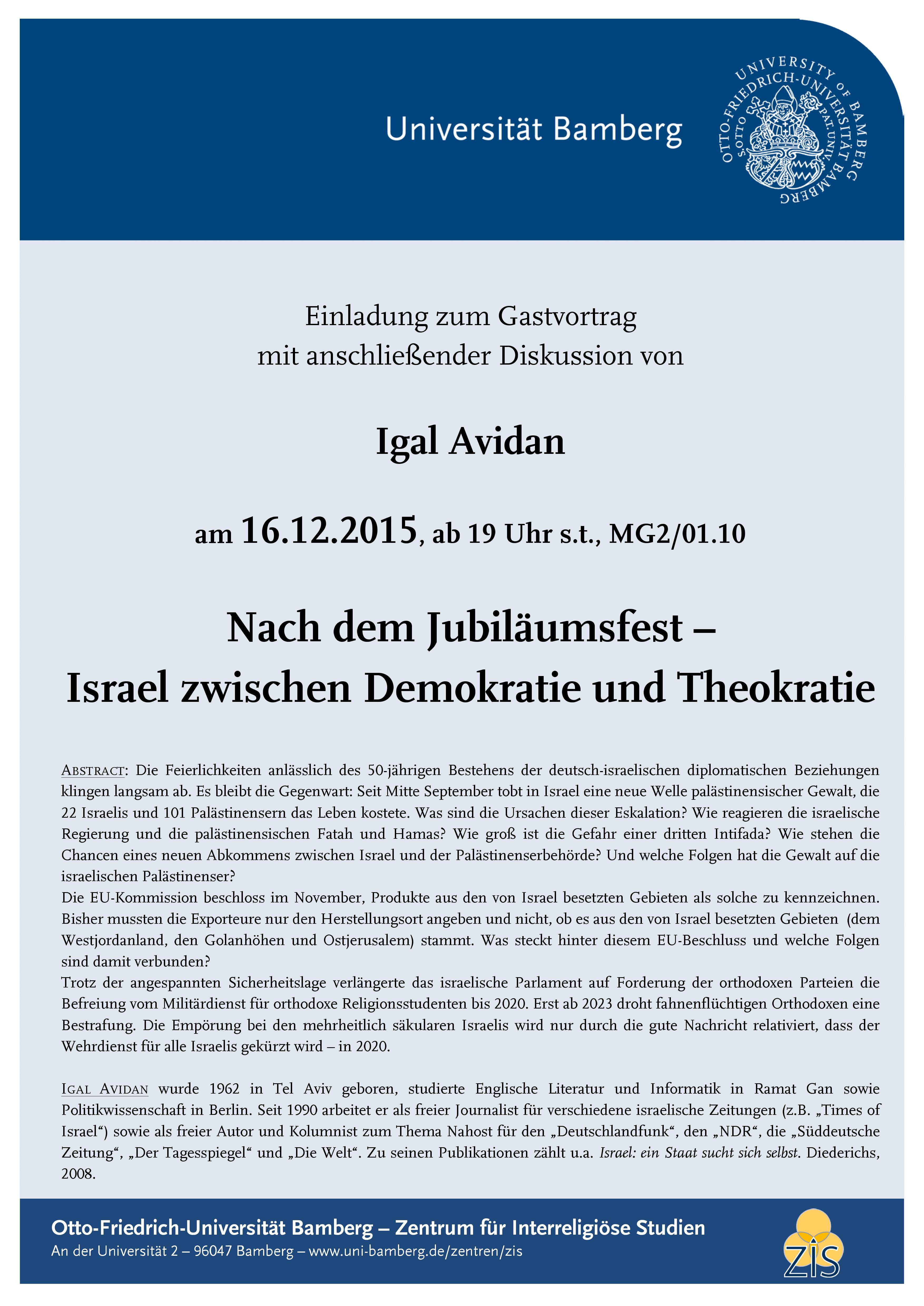 Israel zwischen Demokratie und Theokratie
