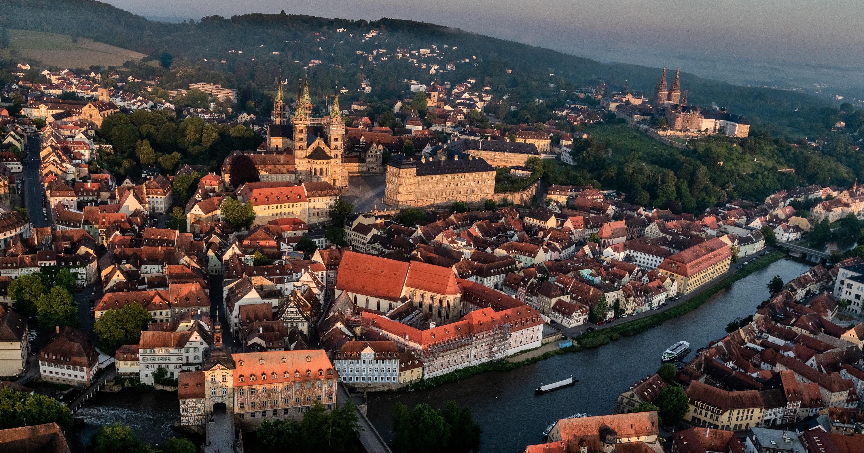 Bamberg aus der Vogelperspektive